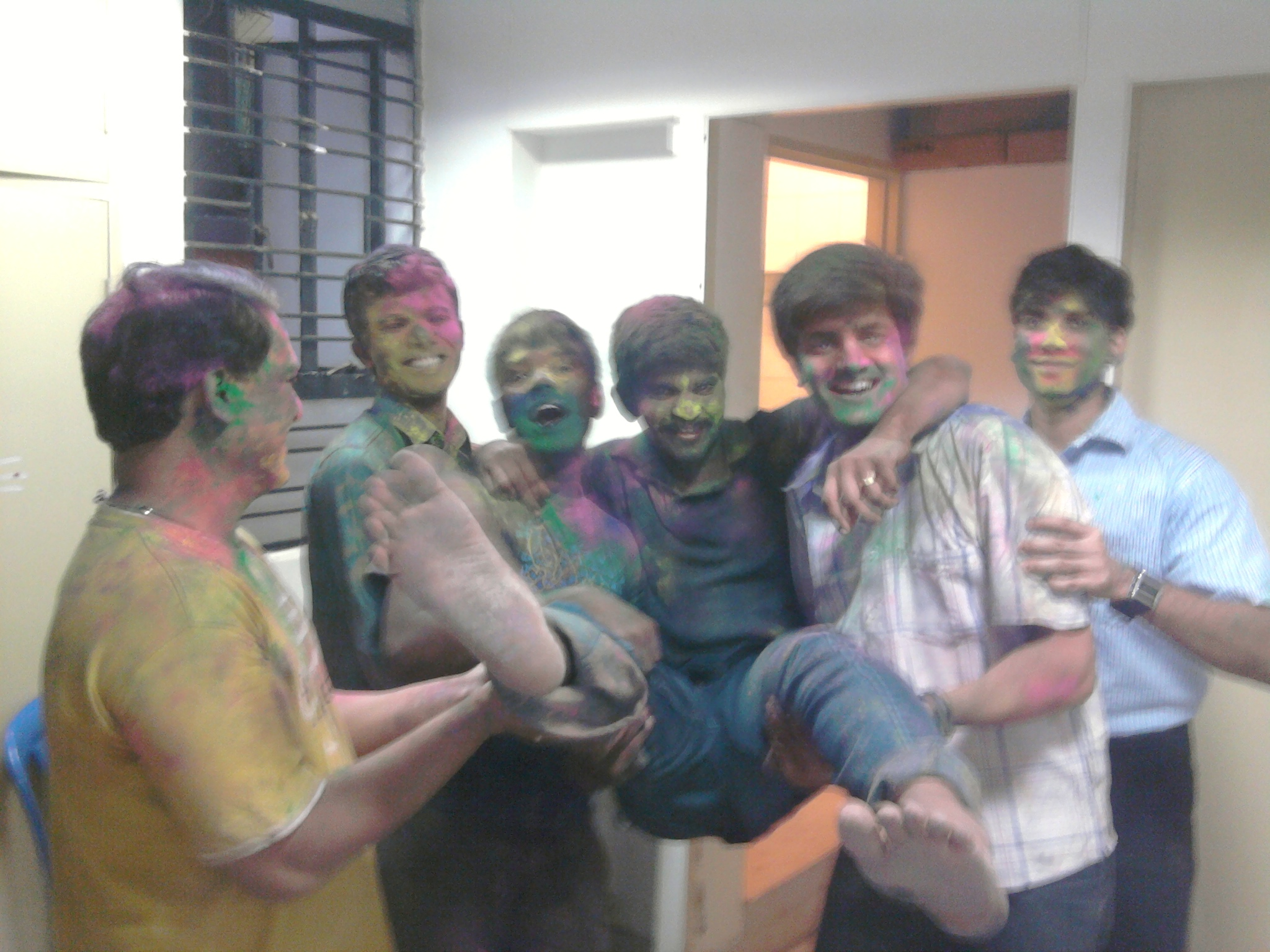 Team BookBuzzr celebrates Holi festival
