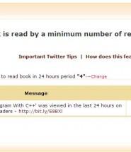 Disable Book-Tweeter