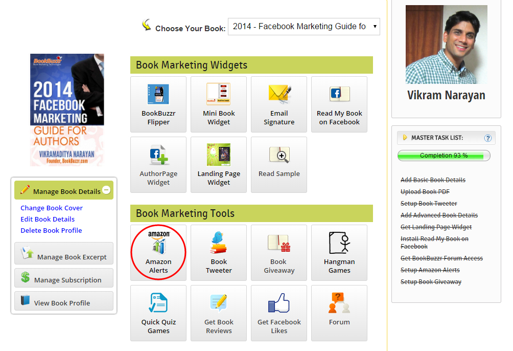 Book Marketing Home page