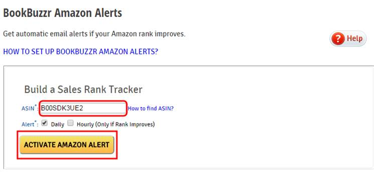 Amazon Alerts set-up