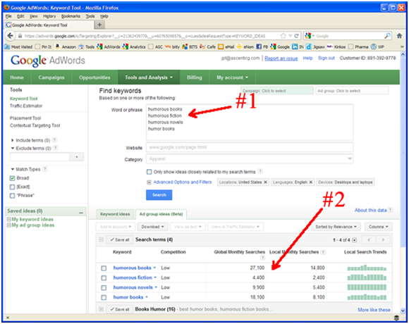 THE SECRET OF SELECTING KEY WORDS FOR ADWORDS
