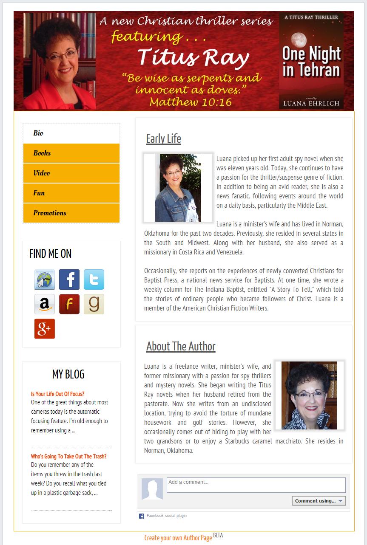 Luana's author page