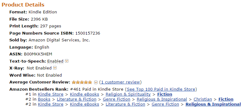 Luana Ehrlich's Amazon.ca Book Rank