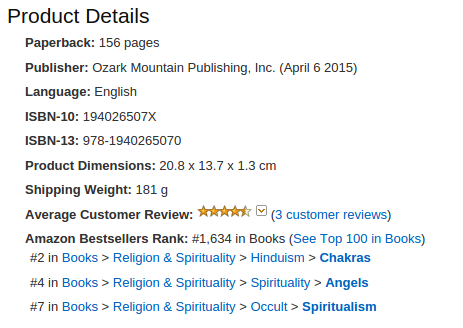 Dancing Forever with Spirit - Amazon rank
